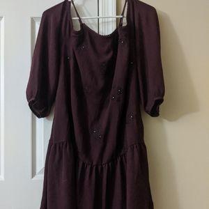 Burgundy summer casual dress